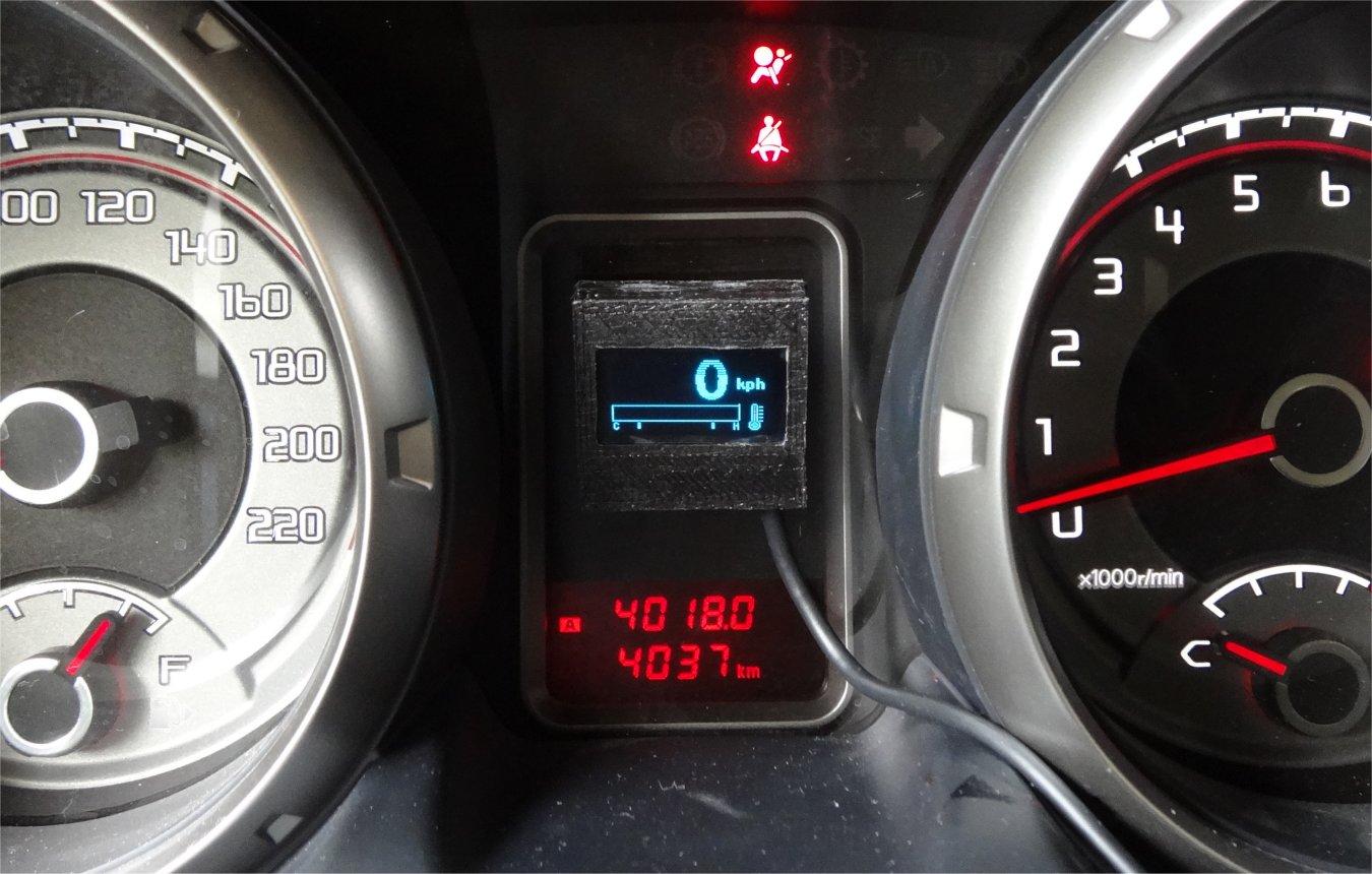 ZL2PD OBD-2 Digital Sdometer gauge on