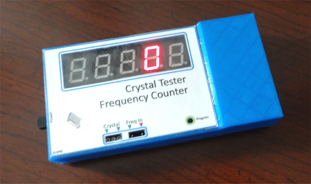 Basic Frequency Counter : Crystal tester