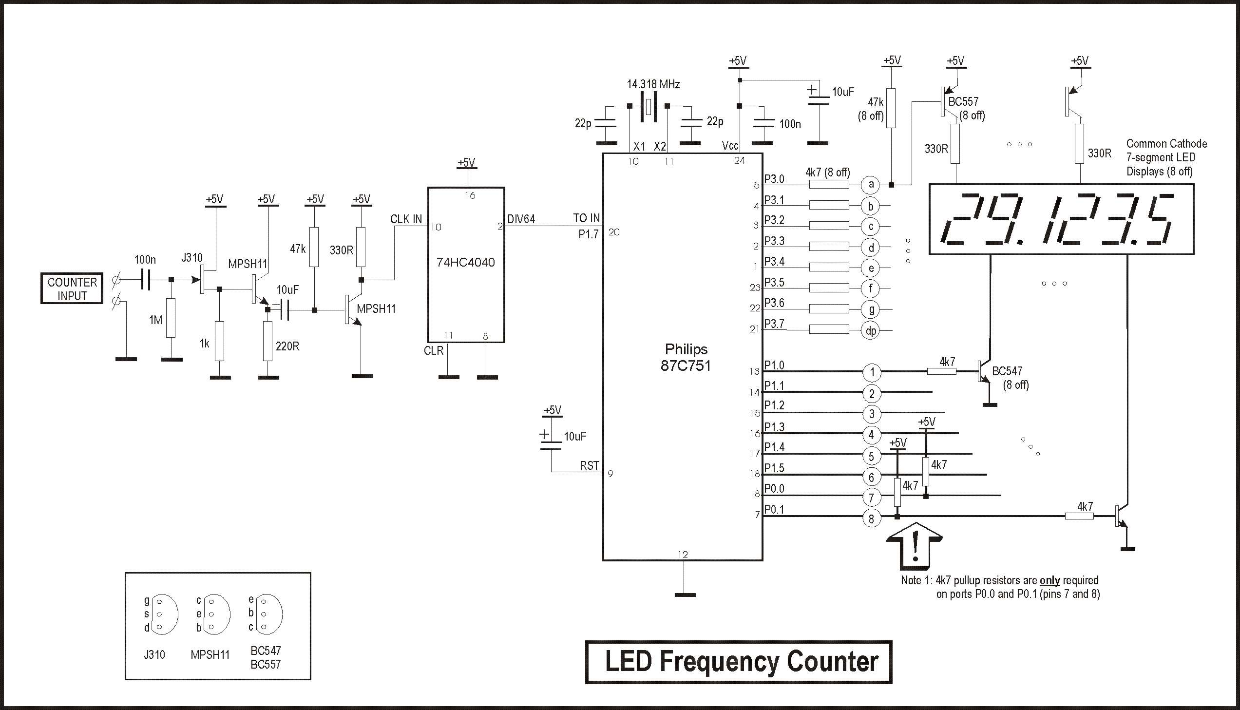 Frequency Counter Preamplifier Circuit : Zl pd five digit led frequency counter