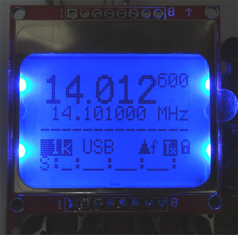 ZL2PD Flexible si5351-based Digital VFO with Nokia LCD Display